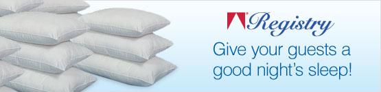 Registry Pillows